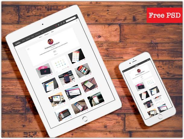 iPad and iPhone Mockup PSD