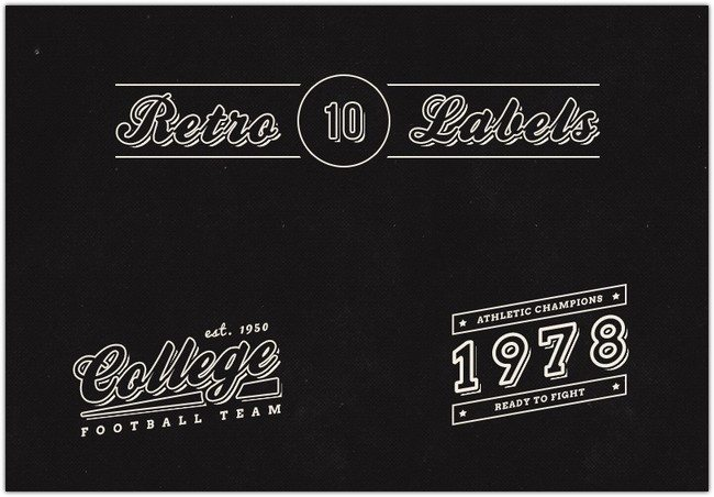 10 Free Vintage Retro Labels (PSD)