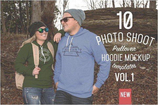 10 Pullover Hoodie Mockups