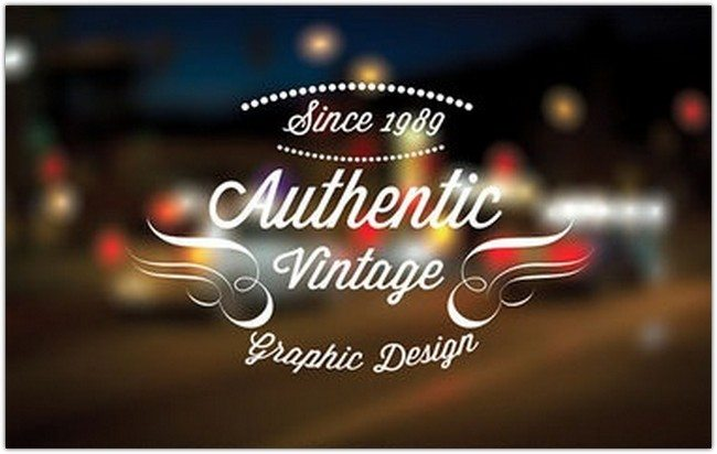 10 Vintage retro labels PSD file V2 free Version