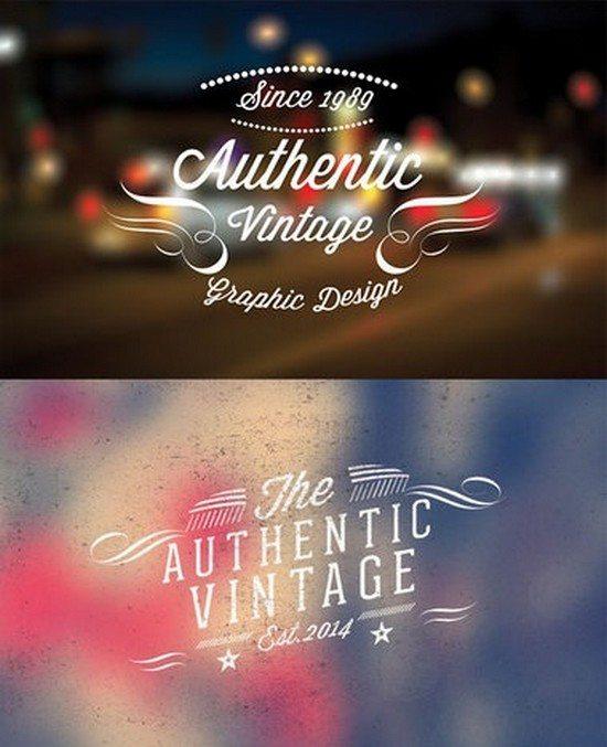 10 Vintage retro labels PSD file V2