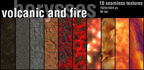 10 seamless textures Volcanic