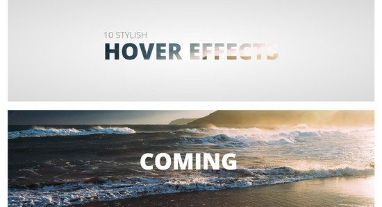 10 stylish hover effects with less