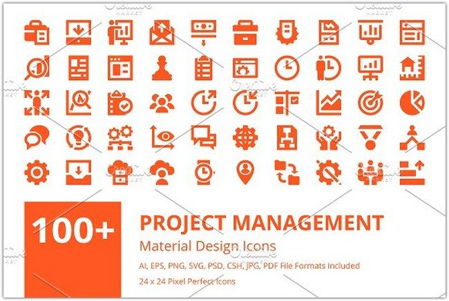 Project Management Icons Set