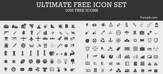 1000 Ultimate Free Icon Set