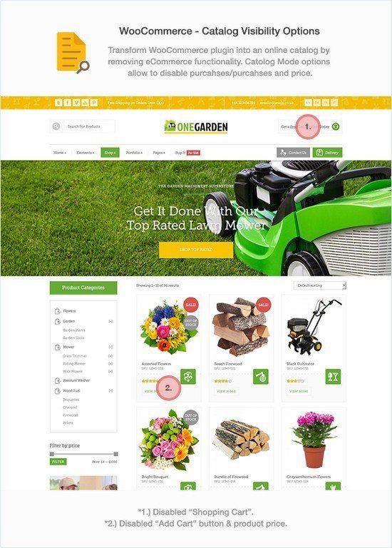 123 Garden - Gardening Flower Shop & Landscape Cleaning Construction Service Theme