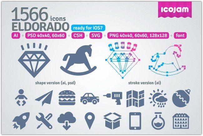 1566 icons in Eldorado set