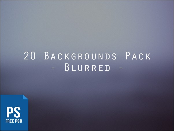 20 Blurred Backgrounds Pack