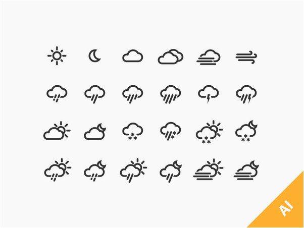 24 Weather Icons