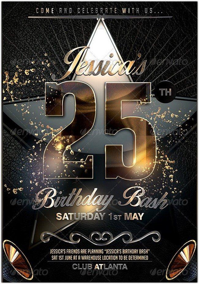 25 Birthday Flyer