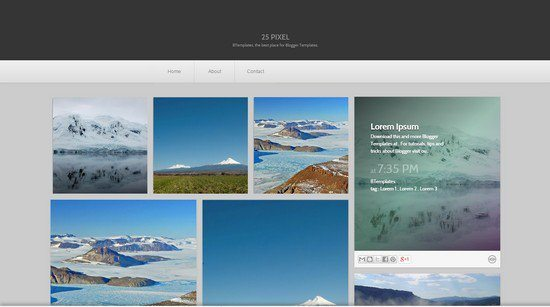 25 pixel Blogger Template