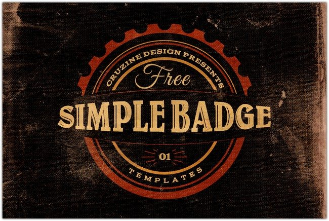 3 Free Simple Badge Templates v.1