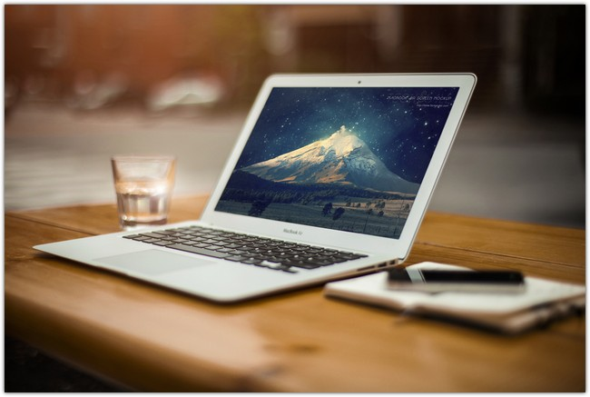 3 Macbook Air with Prespective Mockup