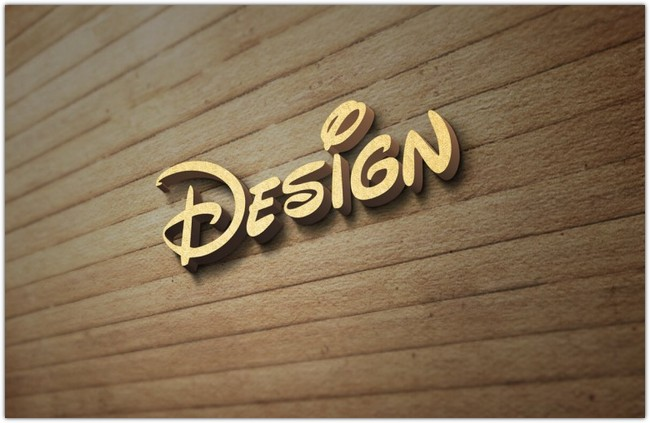 3D Wood Wall Logo MockUp