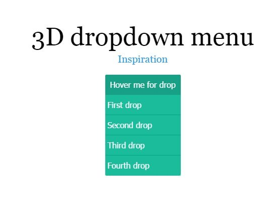 3D dropdown with scss