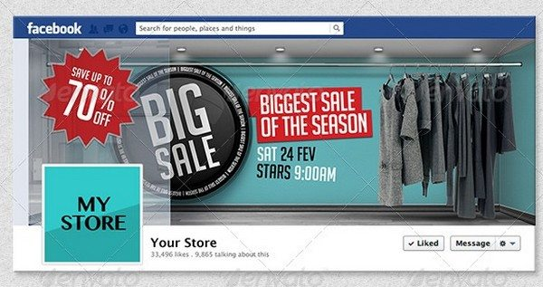 4 3D Sales Templates for Facebook Timeline
