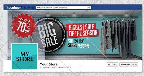 4 3D Sales Templates for Facebook Timeline