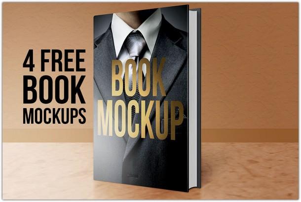4 Free Book Mock-ups