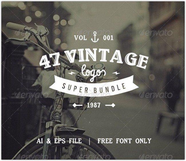47 Vintage Logos Bundle