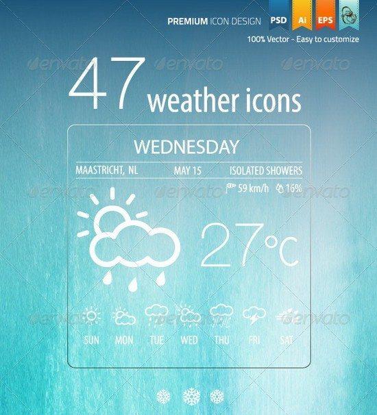 47 Weather Icons