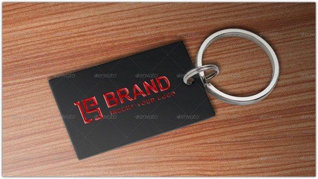 Logo key ring PSD mockups