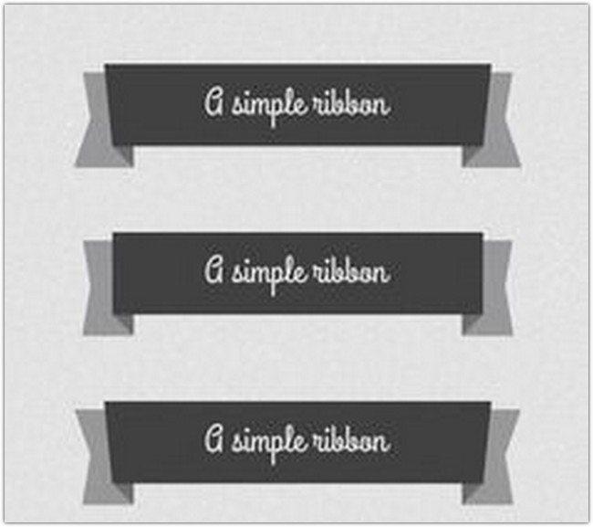 5 Psd Flat Elegant Ribbons