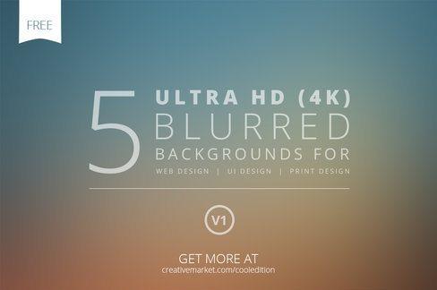5 Ultra HD Blurred Backgrounds V1