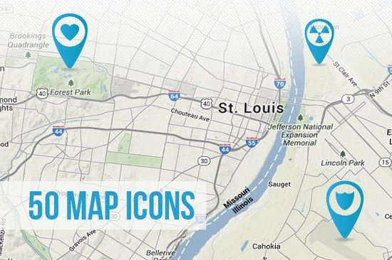 50 Map Icons