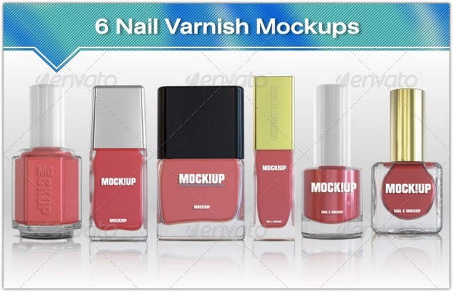 6 Nail Polish Mockups