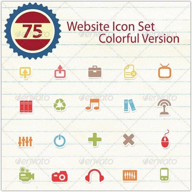 75 Website Icon Set