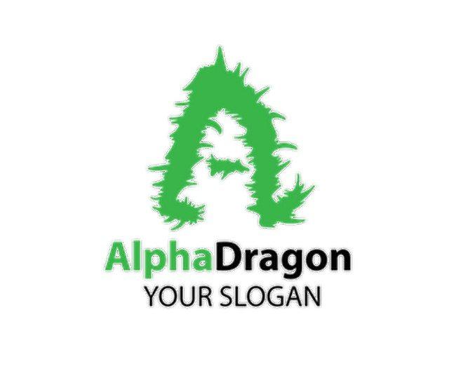 A Letter Dragon Style Logo