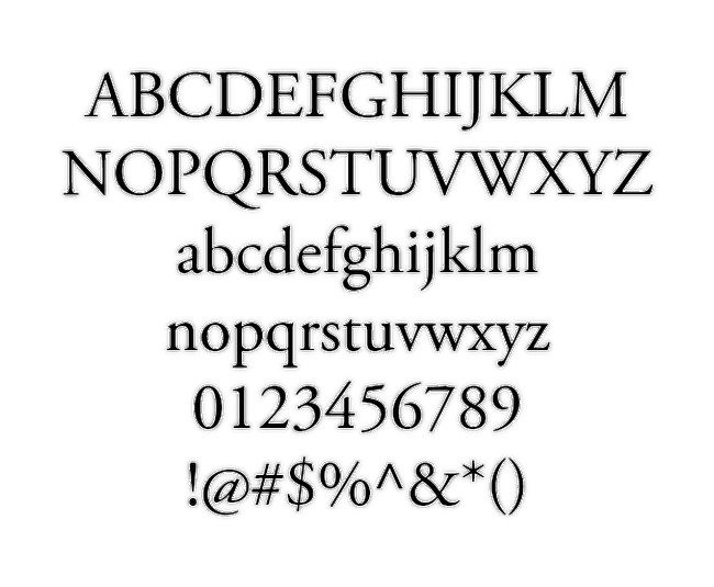 A Nefel Sereke Font