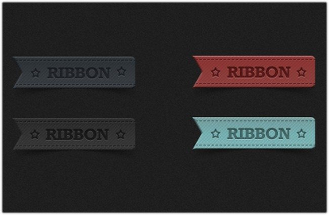 A set of elegant Ribbons