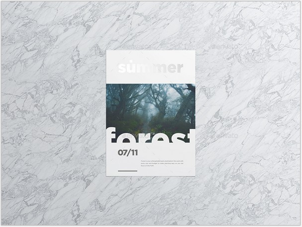 A4 - A5 Poster Flyer-MockUp