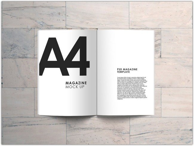 A4 Magazine Mock Up (FREE)