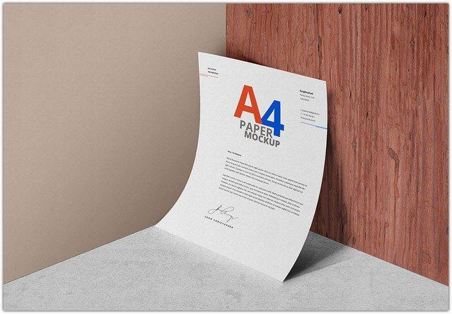 A4 Paper Mockup PSD # 2