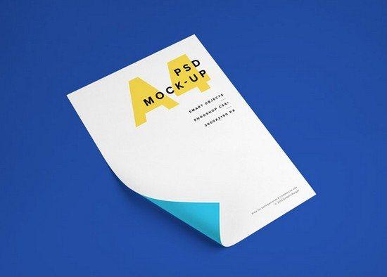 A4 Paper PSD MockUp #2