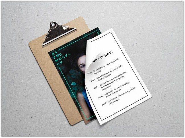 A4 Paper PSD MockUp #3