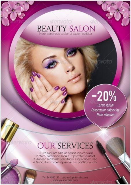 A5 Beauty Salon Flyer – 3 in 1