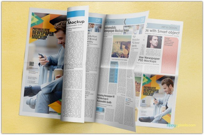AMAZING NEWSPAPER ADVERTISING MOCKUPS VOLUME 5