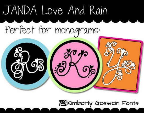 ANDA Love And Rain Font