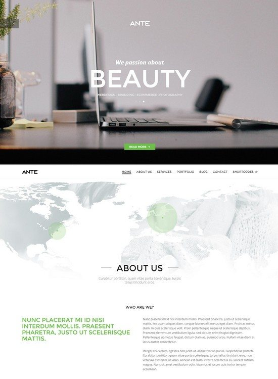 ANTE - One Page Parallax HTML5 Modern Template
