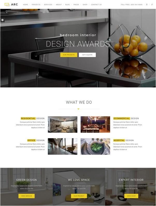 ARC - Interior Design, Decor, Architecture Business Template