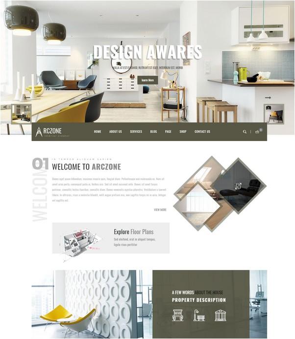 ARCZONE - Interior Design HTML Template