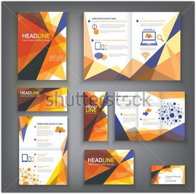 Abstract Vector Brochure Template
