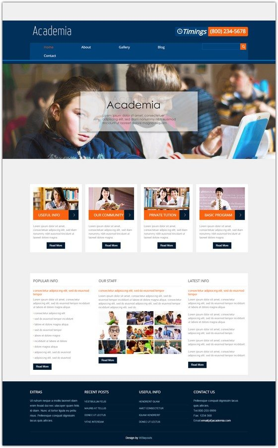 Academia Education Mobile Website Template