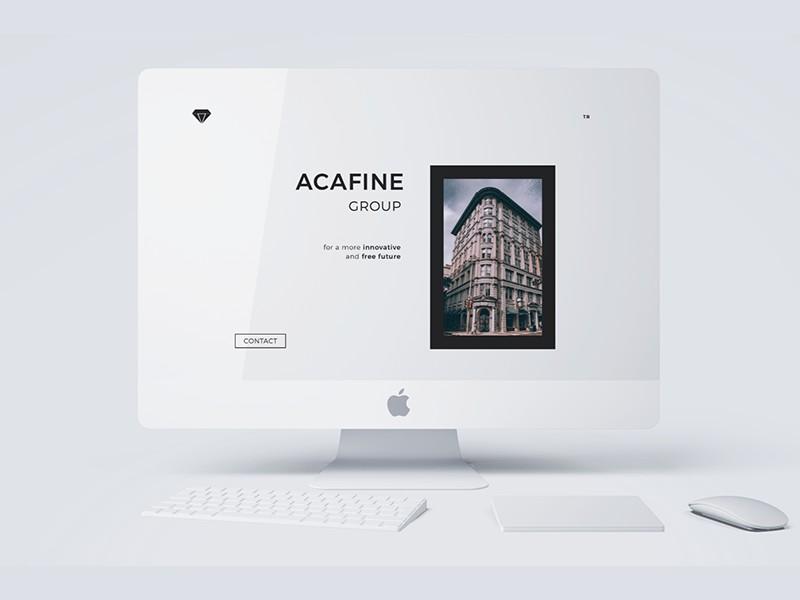 Acafine iMac Mockup