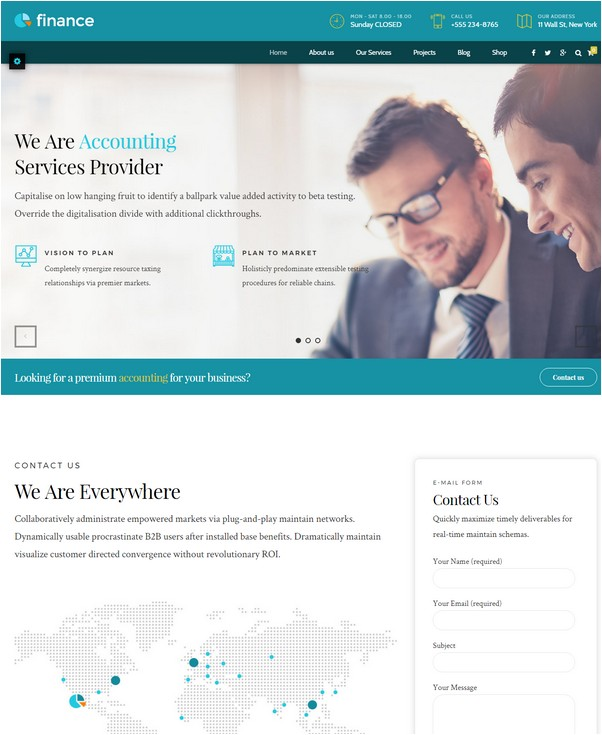 Accounting Business Theme