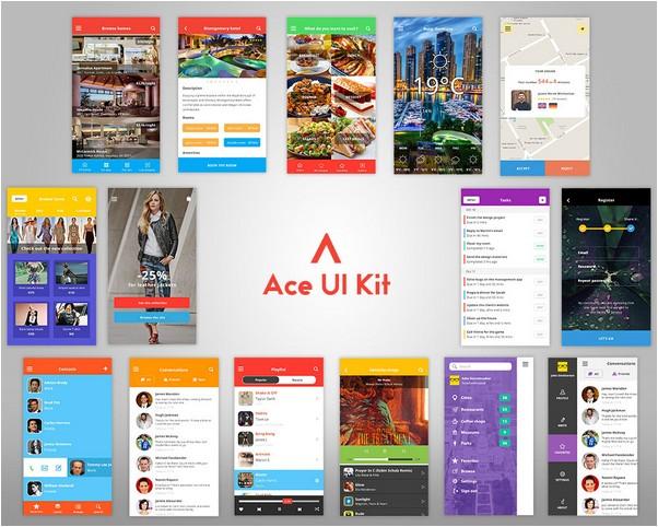 Ace iOS8 Mobile UI Kit
