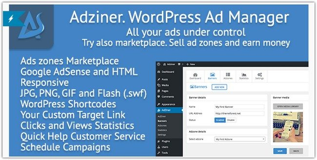 Adziner - WordPress Advertising Manager Plugin